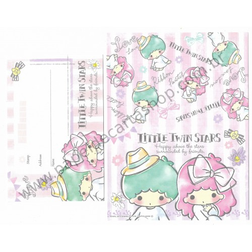 Ano 2015. Kit 2 Conjuntos de Papel de Carta Little Twin Stars Happy Sanrio