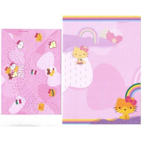 Ano 2019. Conjunto de Papel de Carta Hello Kitty Docinho TECA Sanrio