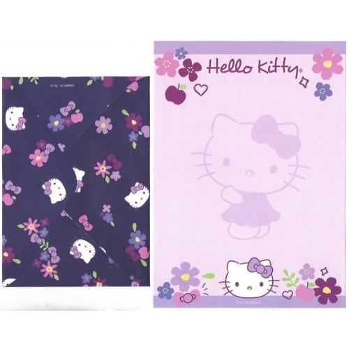 Ano 2019. Conjunto de Papel de Carta Hello Kitty Flores TECA Sanrio
