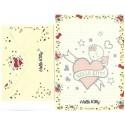 Ano 2019. Conjunto de Papel de Carta Hello Kitty Tatto TECA Sanrio