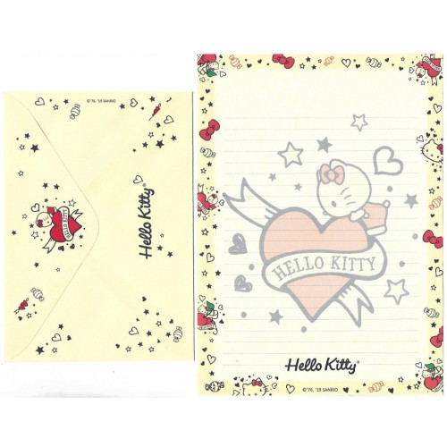 Ano 2019. Conjunto de Papel de Carta Hello Kitty Tatto TECA Sanrio