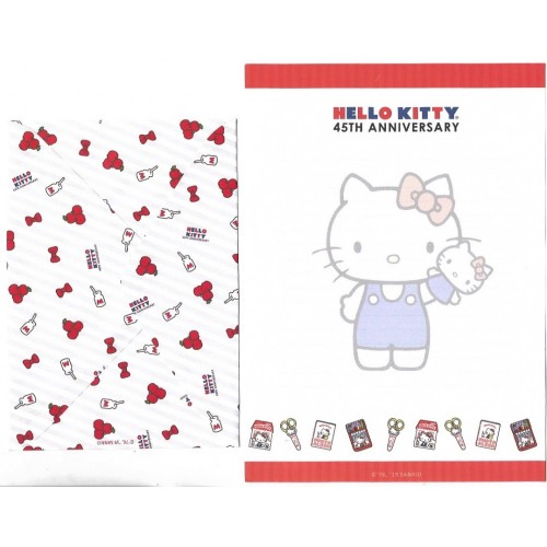 Ano 2019. Conjunto de Papel de Carta Hello Kitty 45th Anniversary TECA Sanrio