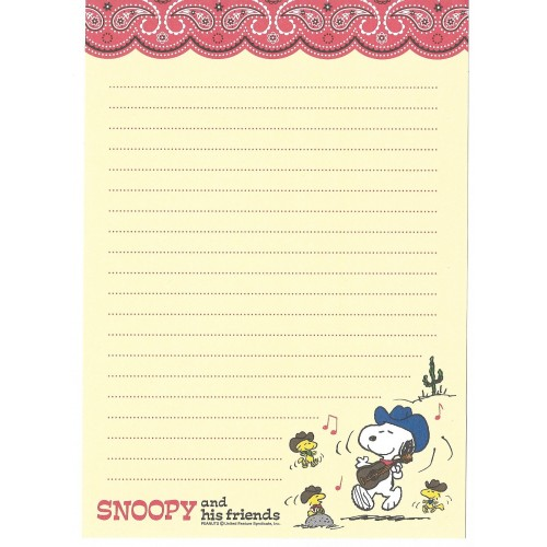 Papel de Carta Vintage Snoopy & His Friends Peanuts Hallmark Japan