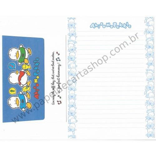 Ano 1991. Conjunto de Papel de Carta Pekkle Off-Hey Antigo (Vintage) Sanrio