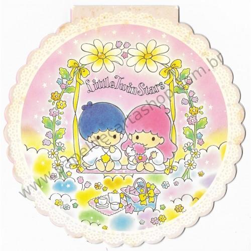 Ano 1994. Kit CAPA & Conjunto de Papel de Carta Little Twin Stars Round Sanrio