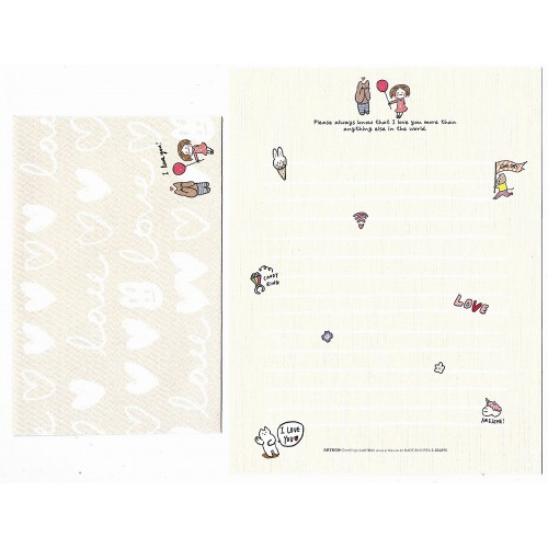 Conjunto de Papel de Carta Awesome Artbox Korea