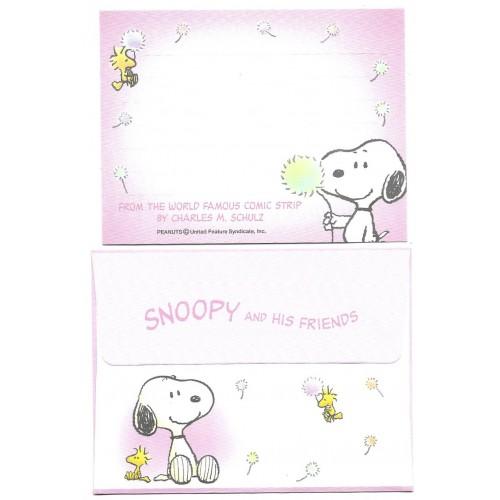 Conjunto de Mini-Papel de Carta Snoopy & Woodstock CRS Hmk