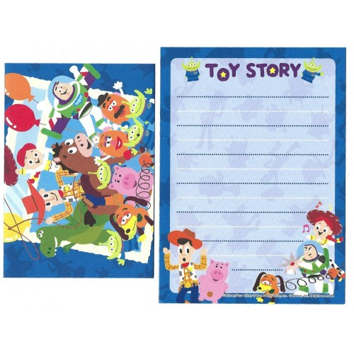 Conjunto de Mini-Papel de Carta Toy Story BLUE 2 Pixar Disney