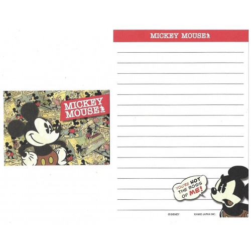 Kit 2 Conjuntos de Mini-Papel de Carta Mickey Mouse Boss Disney