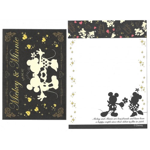 Conjunto de Mini Papel de Carta Mickey & Minnie BLACK