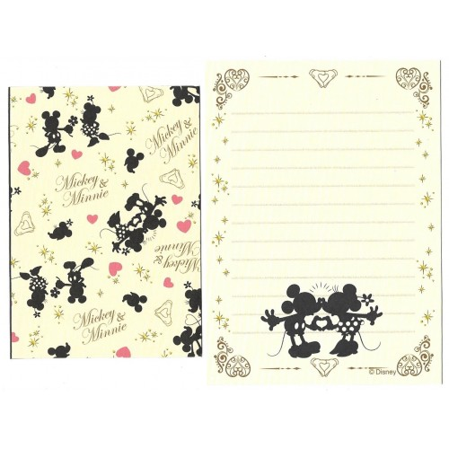 Conjunto de Mini Papel de Carta Mickey & Minnie BLACK II