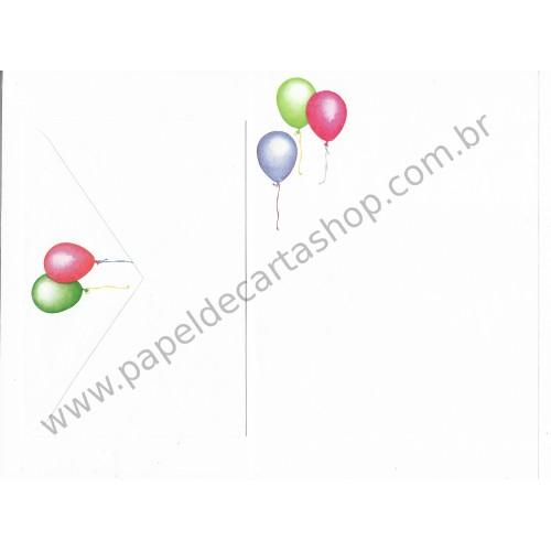 Conjunto de Papel de Carta Balões (COR)