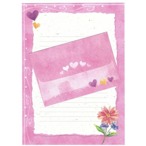 CAPA & Conjunto de Papel de Carta Shinn Jee Flower P180173-4