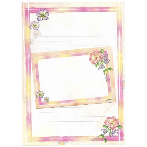 CAPA & Conjunto de Papel de Carta Shinn Jee Flower P180173-3