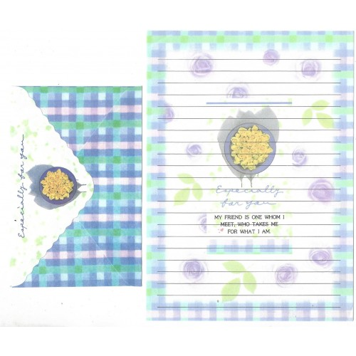 Conjunto de Papel de Carta Antigo Importado Especially For You P1007