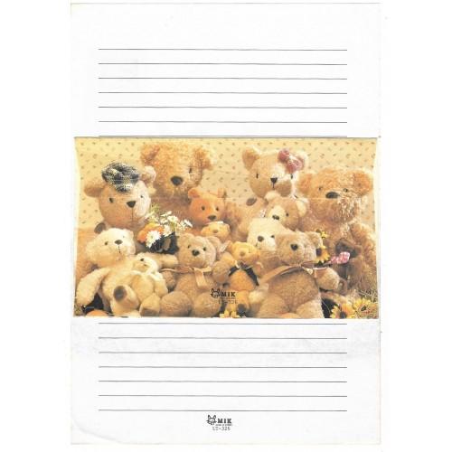 Conjunto de Papel de Carta Importado Bears MIK LT-326