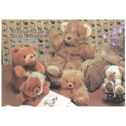 Conjunto de Papel de Carta Importado Bear's Family 1 Litte Fancy