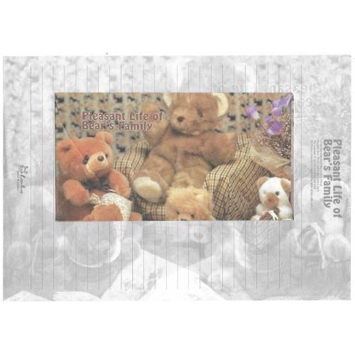 Conjunto de Papel de Carta Importado Bear's Family 1 Litte Fancy