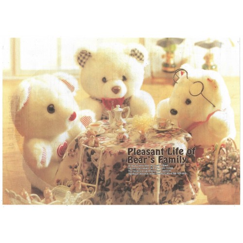 Conjunto de Papel de Carta Importado Bear's Family 2 Litte Fancy