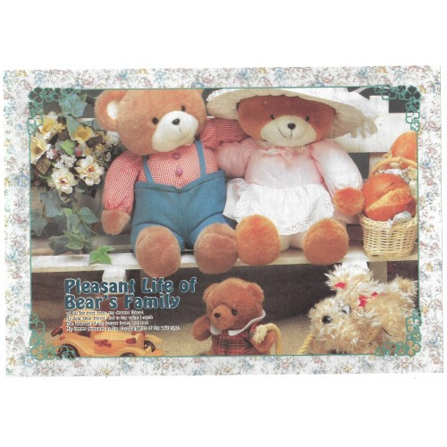 Conjunto de Papel de Carta Importado Bear's Family 3 Litte Fancy