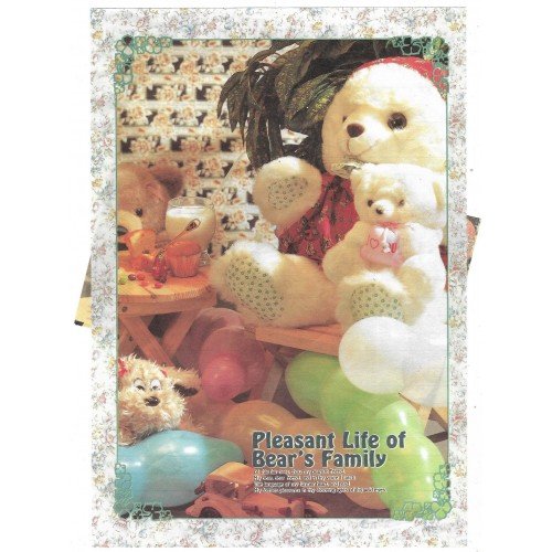 Conjunto de Papel de Carta Importado Bear's Family 4 Litte Fancy