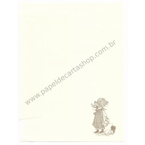 Conjunto de Papel de Carta ANTIGO Holly Hobbie - G2