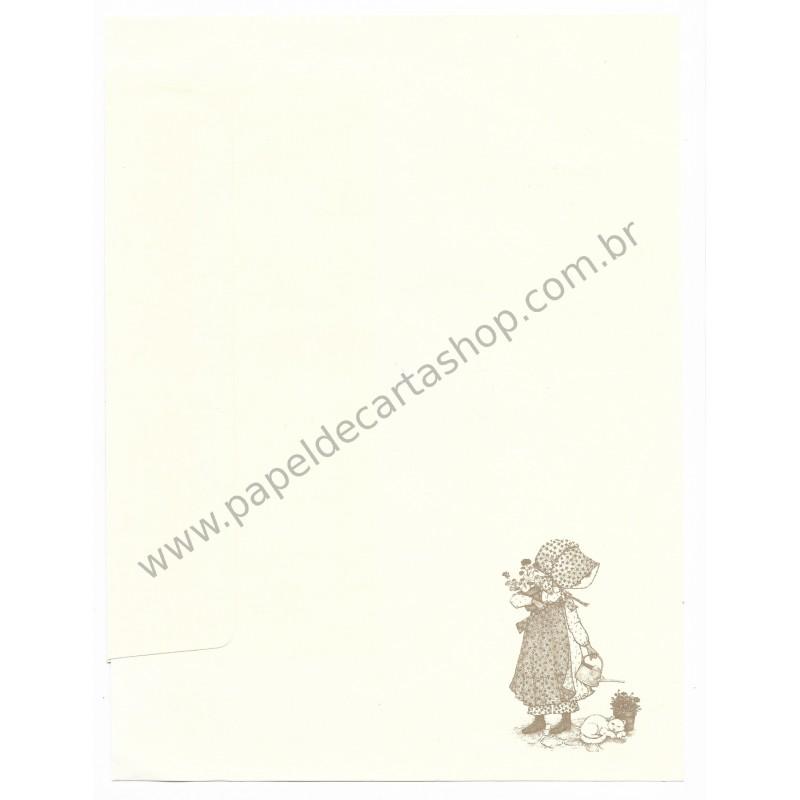 Conjunto de Papel de Carta ANTIGO Holly Hobbie - G2