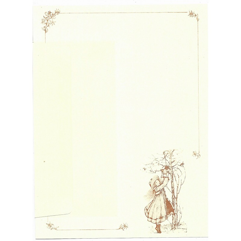 Conjunto de Papel de Carta ANTIGO Holly Hobbie - G1