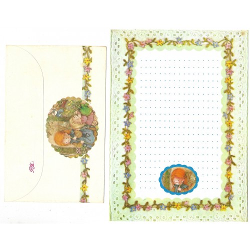 Conjunto de Papel de Carta ANTIGO Lisi Martin 9