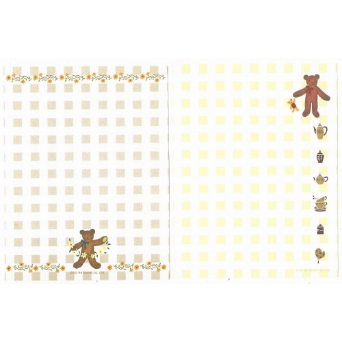 Ano 1994. Kit 4 Papéis de Carta AVULSOS Honeyfield Sanrio