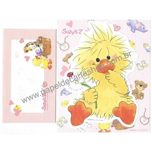 Ano 2008. Conjunto de Papel de Carta IMPORTADO Suzy's Zoo CRS