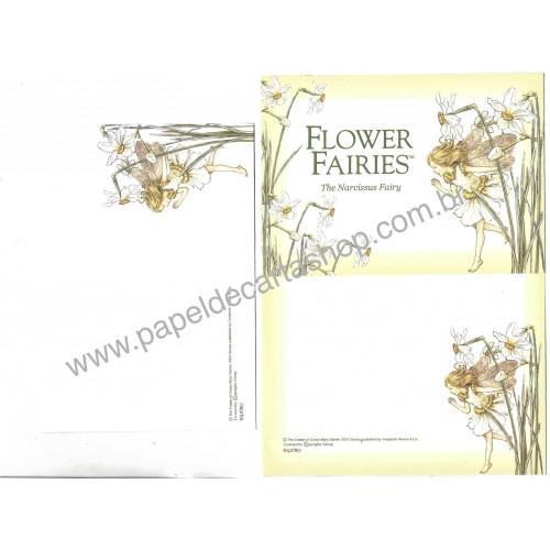 Conjunto de Papel de Carta Importado Flower Fairies The Narcissus