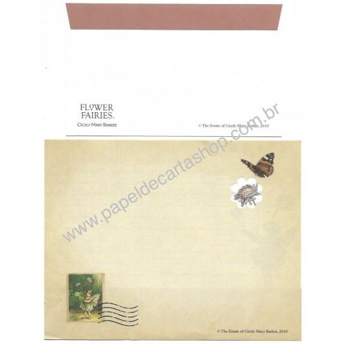 Conjunto de Papel de Carta Importado Flower Fairies