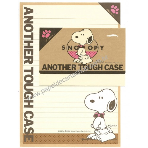 Conjunto de Papel de Carta ANOTHER TOUGH CASE Vintage Hallmark Japan
