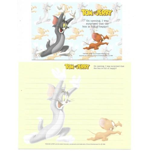 Ano 1999. Conjunto de Papel de Carta IMPORTADO Tom & Jerry CAZ