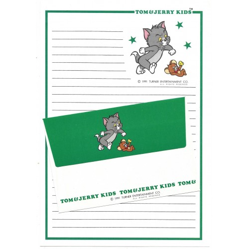 Ano 1991. Conjunto de Papel de Carta Importado Tom and Jerry Kids CVD