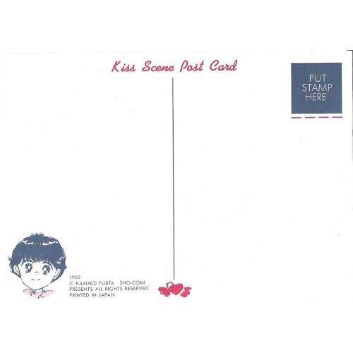 Ano 1992. Postcard Postal Kiss Scene SHO-COMI Kazuko Fujita Japan