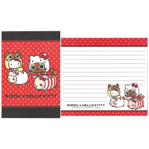 Ano 2011. Kit 4 Conjuntos de Papel de Carta Hello Kitty & AIROU Sanrio