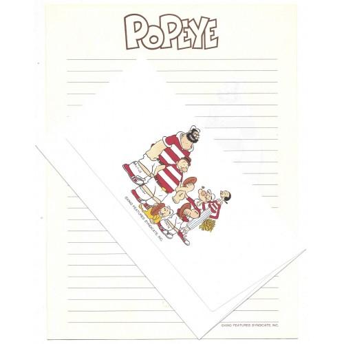 Conjunto de Papel de Carta Antigo Importado POPEYE KING JP