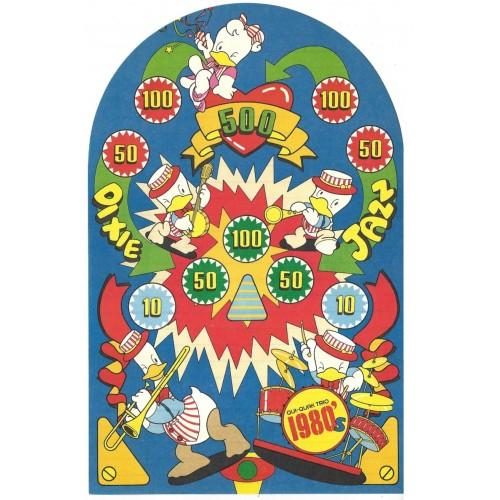 Ano 1979. Papel de Carta AVULSO Qui-Quaks Dixie Land Jazz Sanrio