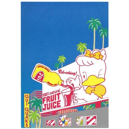 Ano 1979. Conjunto de Papel de Carta Qui-Quaks Juice Sanrio