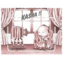 Ano 1985. Conjunto de Papel de Carta Culture Shock Kasha Sanrio