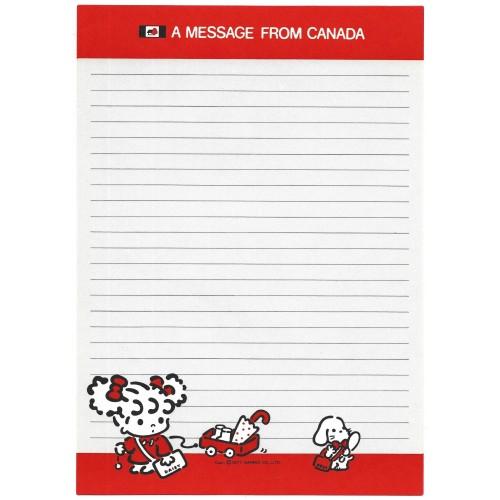 Ano 1977. Papel de Carta Peek-a-Boo A Message from Canada Sanrio
