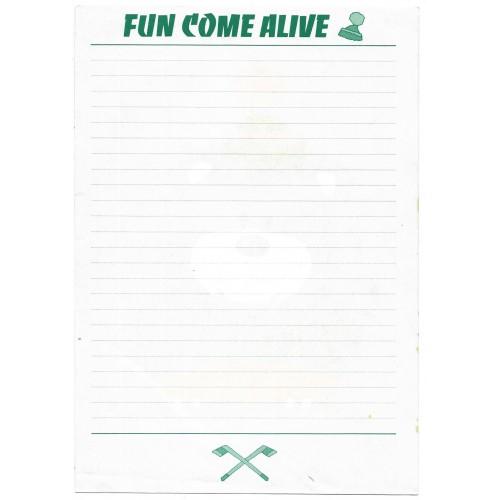 Ano XXXX. Papel de Carta AVULSO Fun Come Alive Vintage Sanrio