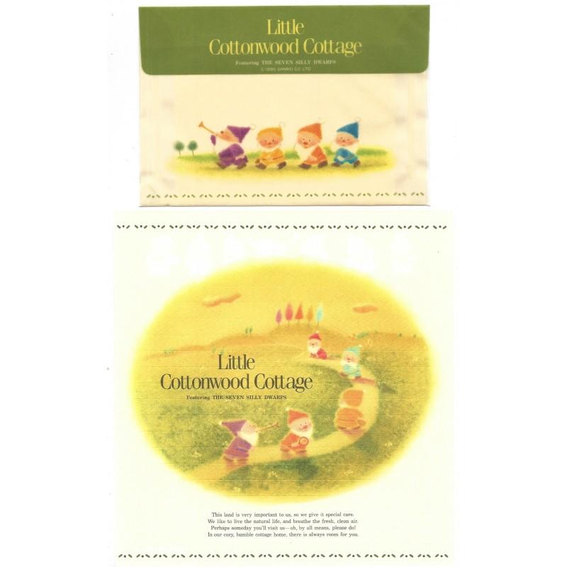 Ano 1990. Conjunto de Papel de Carta Little Cottonwood Cottage Sanrio