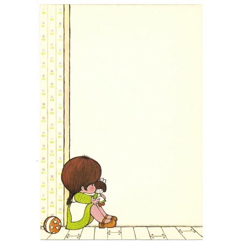 Ano 1976. Papel de Carta AVULSO Small People S Hallmark-Sanrio