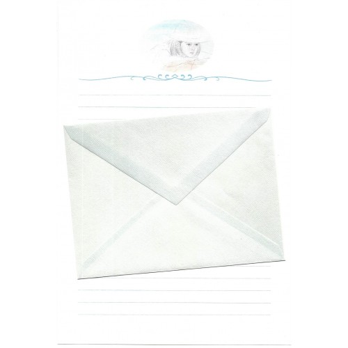 Ano 1989. Conjunto de Papel de Carta Keibun Ohta CAZ2 Märhen Collection Sanrio