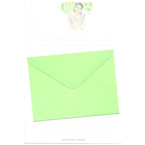 Ano 1989. Conjunto de Papel de Carta Keibun Ohta CVD Märhen Collection Sanrio