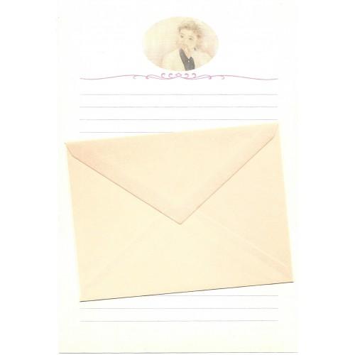 Ano 1989. Conjunto de Papel de Carta Keibun Ohta CLA Märhen Collection Sanrio