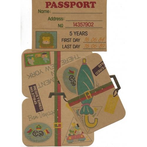Ano 1984. Conjunto de Papel de Carta Passport Vintage Sanrio